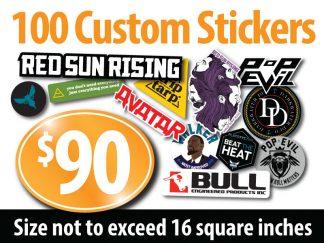 100 Custom Stickers